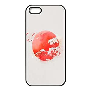 Nipon Eastern Sun Japan Waves iPhone 5 5s Cell Phone Case Black Protect your phone BVS_801403