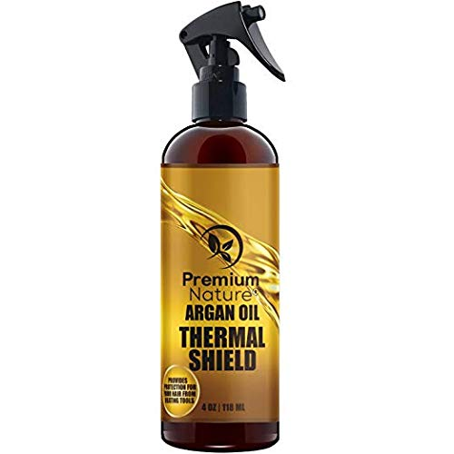 Argan Oil Hair Protectant Spray - Thermal Heat Flat Iron Straightening Protectors For Styling Treatment Against Hot Blow Hair Dryer Natural Prevents Damage Dryness Breakage Split Ends Protection Heet Spray Premium Nature