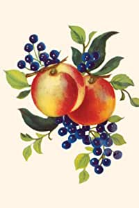 Canvas Print, Peaches And Blueberries - 20x30
