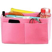 [Fits Speedy 35, Pink] Felt Organizer, Bag in Bag, Wool Purse Insert, Customized Tote Organize, Cosmetic Makeup Diaper Handbag