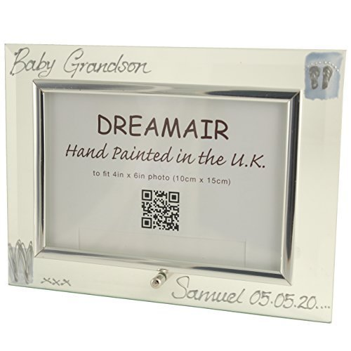 Personalised Baby Grandson Gift Photo Frame (L) MAXIMUM 25 CHARACTERS