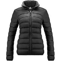 WALUCAN Women's Down Jacke Short Coat Ultra Light Weight Outwear