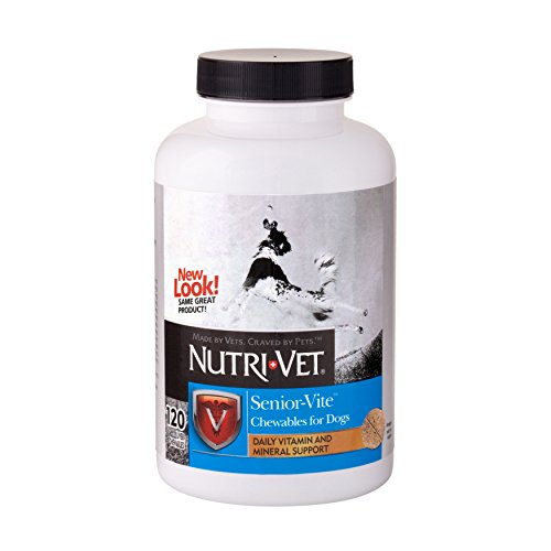 Nutri-Vet Senior-Vite Chewables for Dogs, 120 Count (Vitality Senior Multivitamin)