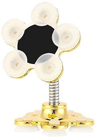 argent support de t/él/éphone de voiture universel 360 /° rotatif en m/étal fleur magique Creative Mobile Navigation double face support 2packs Sucker Stand pour t/él/éphone portable