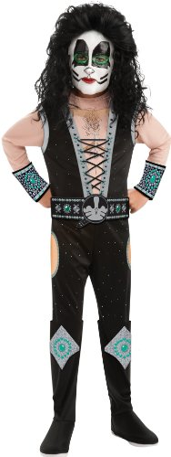 Catman Kiss Costumes (Rubies Costumes KISS - Catman Deluxe Child Costume Black Medium)