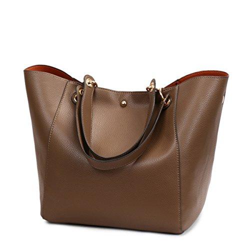 tout main sac à cuir filles imperméable à à Kaki grand à en fourre synthétique Mode l'eau main bandoulière sac sac femmes qH4a0a