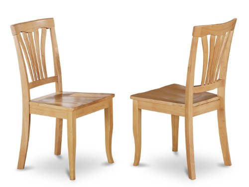 East West Furniture AVC-OAK-W Dining Room Chair Set with Woo