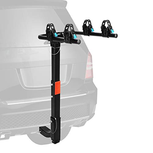 XCAR 2-Bike Bicycle Hitch Mount Carrier Rack Heavy Duty for Cars, Trucks, SUV