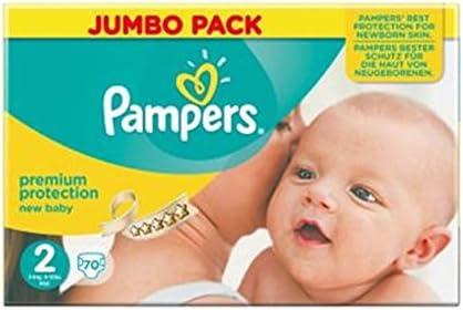 Pampers Nuevo Tamaño Del Bebé Pack 2 (Mini) Jumbo 70 Pañales (Paquete de 2): Amazon.es: Hogar
