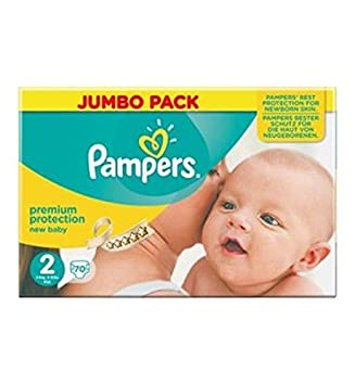 Pampers Nuevo Tamaño Del Bebé Pack 2 (Mini) Jumbo 70 Pañales (Paquete de
