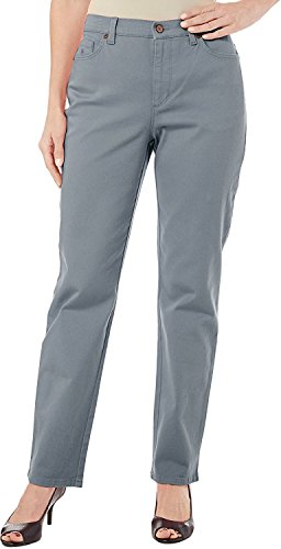 - Gloria Vanderbilt Womens Amanda Average Colored Denim Jeans 16 Marble Mist
