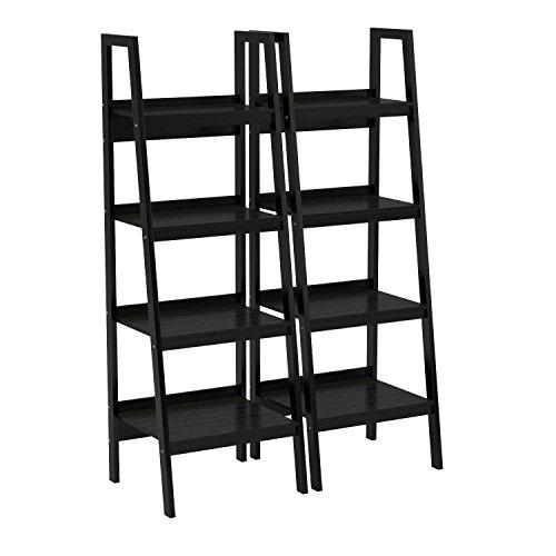 Ameriwood Home Lawrence 4 Shelf Ladder Bookcase Bundle, Black by Ameriwood Home (Image #9)