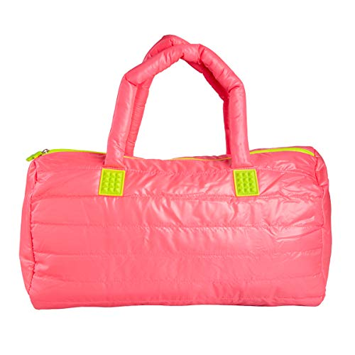 FUEL Hot Pink Gym Bag Duffle Zipper Weekender for Women Duffel Weekend Carry On with Zipper ()