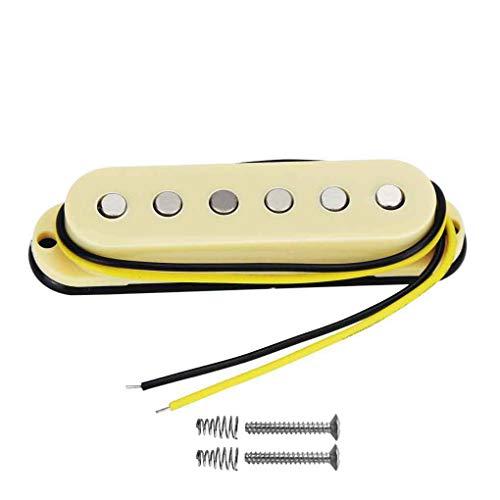 - FLEOR Alnico 5 Strat Style Electric Guitar Single Coil Pickup Bridge Pickup, Cream