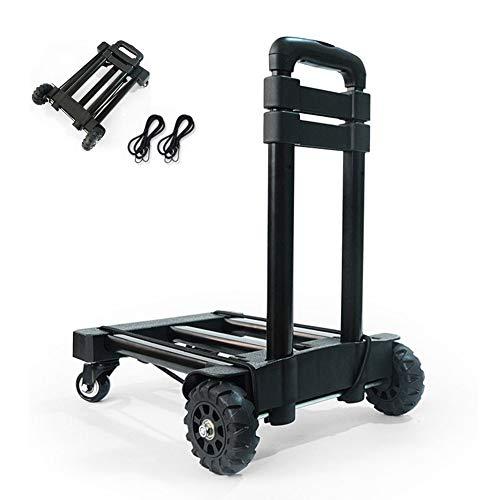 Carro plegable de la mano, 135 libras de servicio pesado 4 ruedas de construcción sólida carro utilitario compacto y ligero...