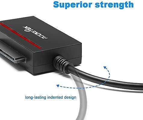 Rocketek CFast 2.0 Lector de tarjetas + USB 3.0 a SATA Adaptador de cable conversor Compatible con la tarjeta de memoria CFast 2.0 y SDD y disco duro ...