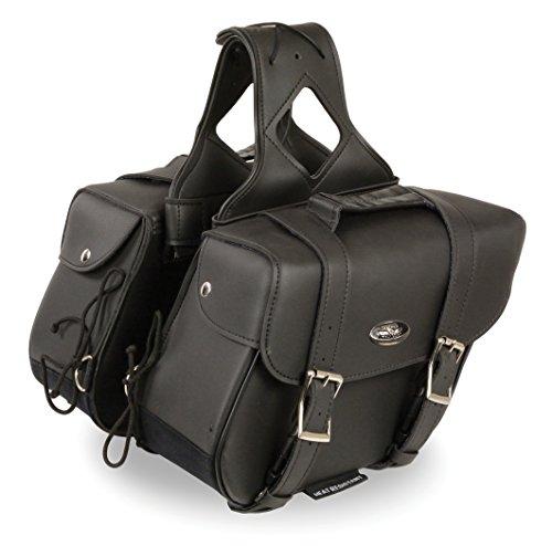 Milwaukee SH680-BLK-PCS Black Large 1680D Two Piece Nylon Sissy Bar Bag