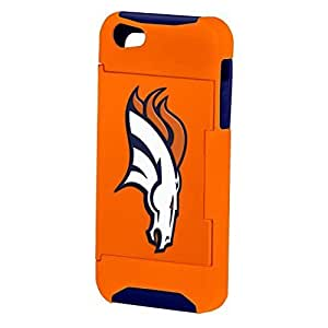 Forever Collectibles NFL Hideaway Credit Card Diy For SamSung Note 4 Case Cover Hard Case - Retail Packaging - Denver Broncos