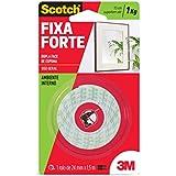 Fita Dupla Face 3M Scotch Fixa Forte Espuma - Uso Interno - 24 mm x 1, 5 m, Scotch, HB004087670