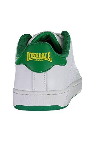 Calzatura Sportiva Green Bianco Lonsdale White Uomo SNR00 THZPqv5w0
