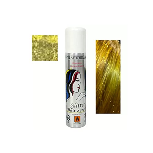 [Graftobian Premium Concenterated Glitter Hair Spray - Gold 5.0 Ounces] (Burlesque Man Costume)