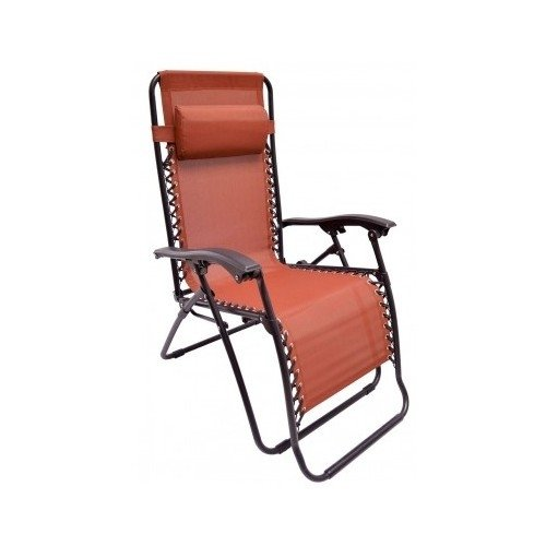 Premium Patio Chairs Zero Gravity Chair Caravan Canopy Lounge Outdoor Folding Recliner Terra Cotta by Caravan
