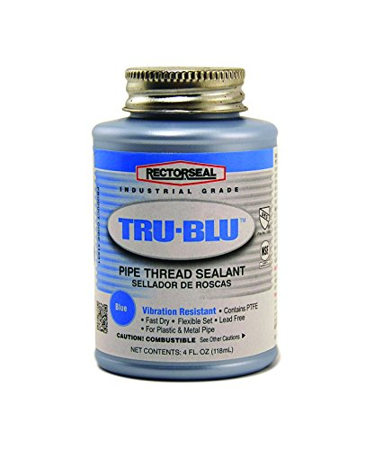 Rectorseal 31631 1/4 Pint Brush Top Tru-Blu Pipe Thread Sealant