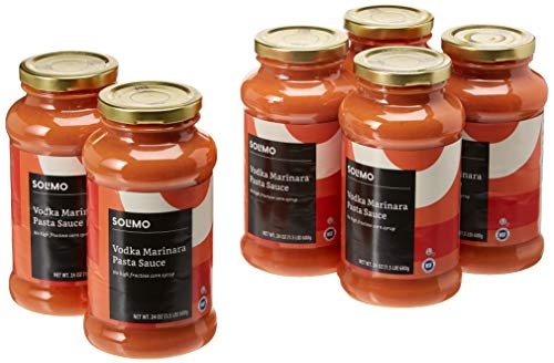 Amazon Brand - 24 oz Solimo Pasta Sauce, Vodka Cream (Pack of 6)