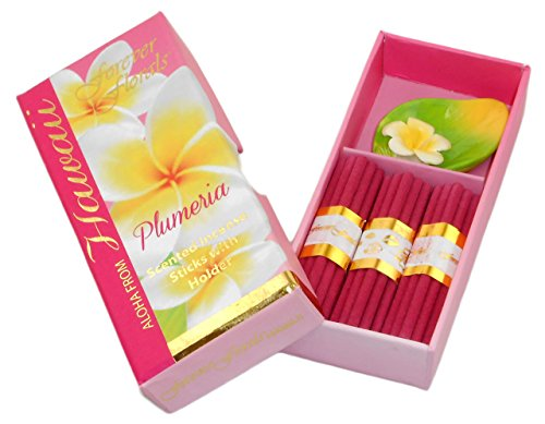 Hawaiian Forever Florals Incense Gift Box 4 Sets (Plumeria Incense)