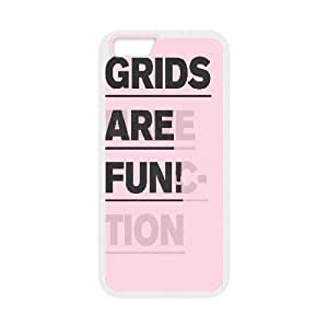 Cases for IPhone 6 Plus, Grids are Fun Cases for IPhone 6 Plus, Psychedelic Anime White
