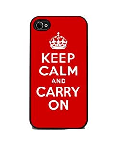 Keep Calm and Carry On - Red iPhone 4 or 4s Cover, Cell Phone Case by icecream design