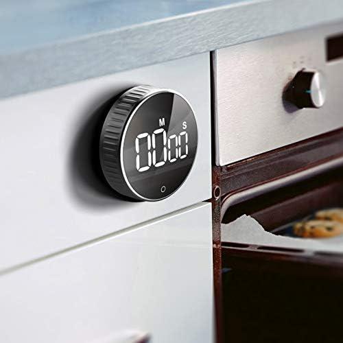 Temporizador de cocina, HOMMINI Count up/down Gran pantalla LED Electrónica Temporizador de memoria