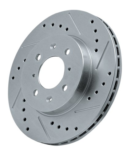 Power Stop AR8580XL Cross Drilled and Slotted Performance Brake Rotor - Left (Left Rotor Slotted)