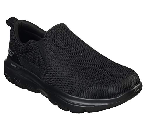 Skechers Men's GO Walk Evolution Ultra-Impeccable Sneaker, Black, 7 X-Wide