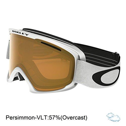Oakley O2 XM Snow Goggles, Matte White, Persimmon, - Ski Goggles Womens Oakley
