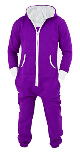 - SKYLINEWEARS Men's Unisex Onesie Jumpsuit One Piece Non Footed Pajama Playsuit Small Purple