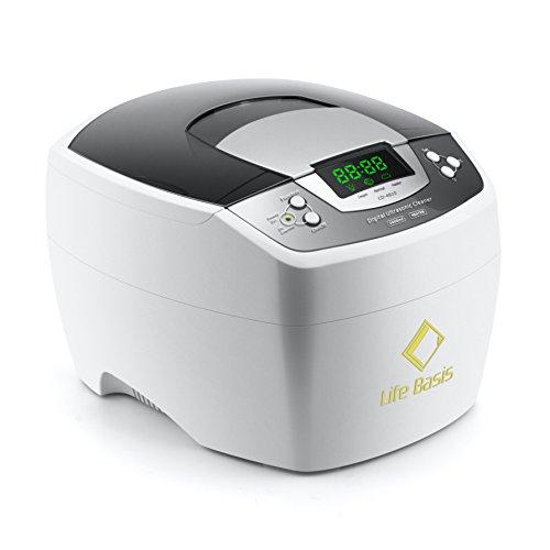 LifeBasis 2 Liter Digital Ultraschallreiniger Ultraschallreinigungsgerät mit Heizung und Entgasungsfunktion , großes Ultraschall Reiniger Reinigung Gerät Ultraschallbad für Brille Schmuck Zahnbürsten Zahnersatz usw.