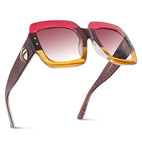 f45d4ff30c6 ROYAL GIRL Oversized Square Sunglasses Women Inspired Multi Tinted Frame  Fashion Modern Shades - Buy Online in Oman.