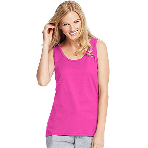 Hanes by Womens Live. Love. Color Scoop Neck Tank 9002_Amaranth_L