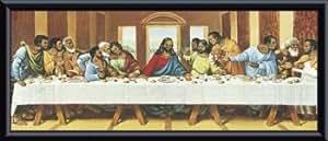 Black Last Supper (detail), Framed Art Print by Tobey w