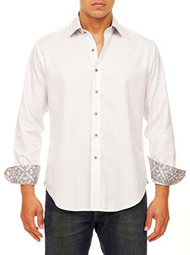 Robert Graham Men's Windsor Classic FIT Long Sleeve Shirt, White, XLarge from Robert Graham
