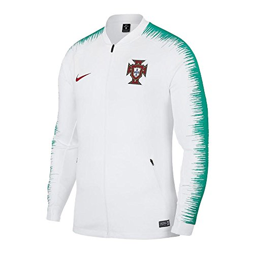 NIKE 2018 Portugal Anthem Jacket- White L (Portugal Replica Jersey)