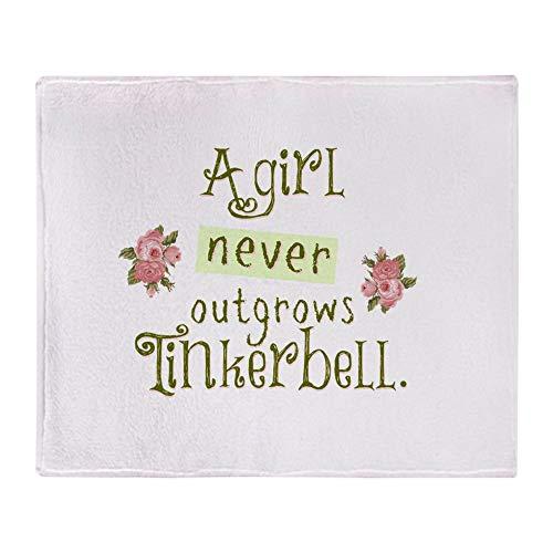 Tinkerbell Stadium - CafePress A Girl Never Outgrows Tinkerbell Soft Fleece Throw Blanket, 50