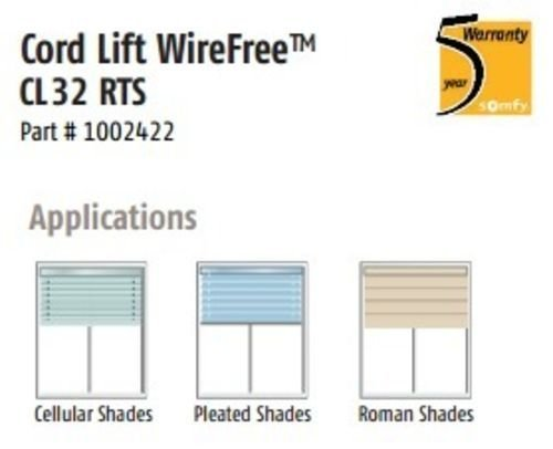 Somfy Cord Lift WireFree RTS Motor for 2'' Horizontal Blinds (MPN # 1002422) by Somfy (Image #3)