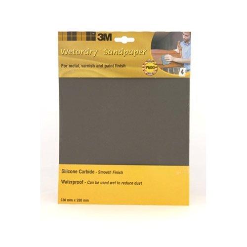 3M P600 Wetordry Sandpaper Sheets, 230 x 280 mm 9085
