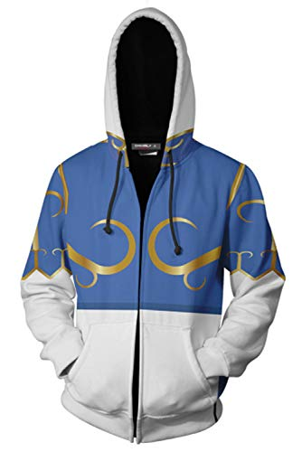 CosplayCos Unisex Chun Li Hoodie Casual Cosplay Halloween Hooded Jacket Sweatershirt ()