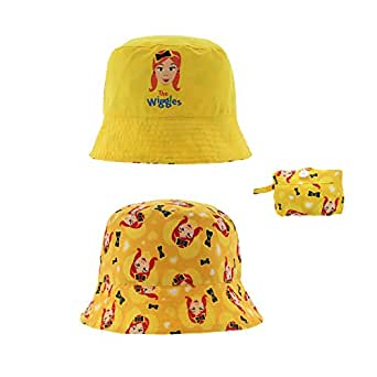 The Wiggles Emma Reversible Packable Bucket Hat for Kids in Yellow (2-3X)