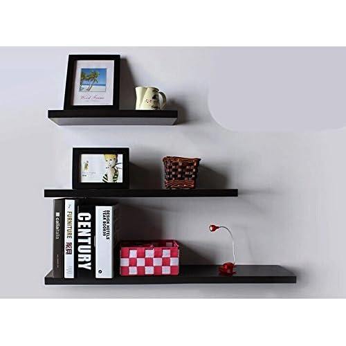 Yontree Juego de 3 Estanterías para Adornos Libros CDs Fotos Estante de pared  Cubos retro negro 68bbf7cfa7e0