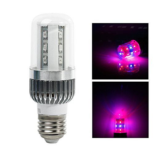 LVJING LED Plant Grow Light Corn Light Bulb - 6w - E27 Socket - 18 SMD Chips - 360 Degree Lighting - for Indoor Plant Veg Flower Organic Garden Greenhouse Hydroponic Aquatic Grow Tent System (Corn Heater compare prices)