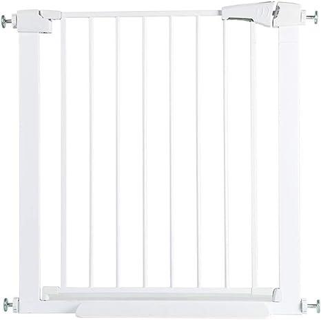 WYSFHL Puerta de Escalera de Seguridad, Puerta de Seguridad de Puerta, Puerta de Seguridad Blanca, Puertas de Seguridad for Mascotas, Ajuste a presión, sin perforación Adecuado for 63 a 82 cm: Amazon.es: